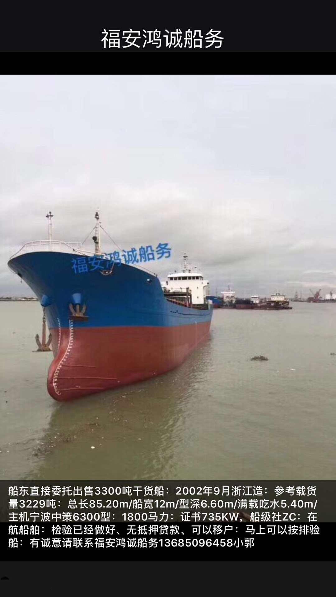 出售3300吨干货船