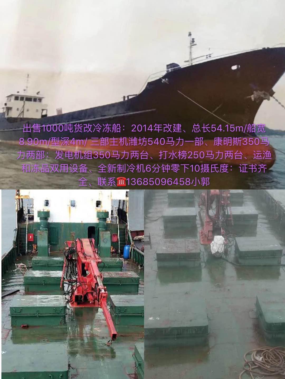 出售1000吨冷冻船