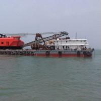 出售2013年造18方沿海非自航抓斗挖泥船