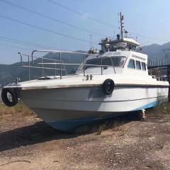 出售无证书高速玻璃钢快艇船长13.8米