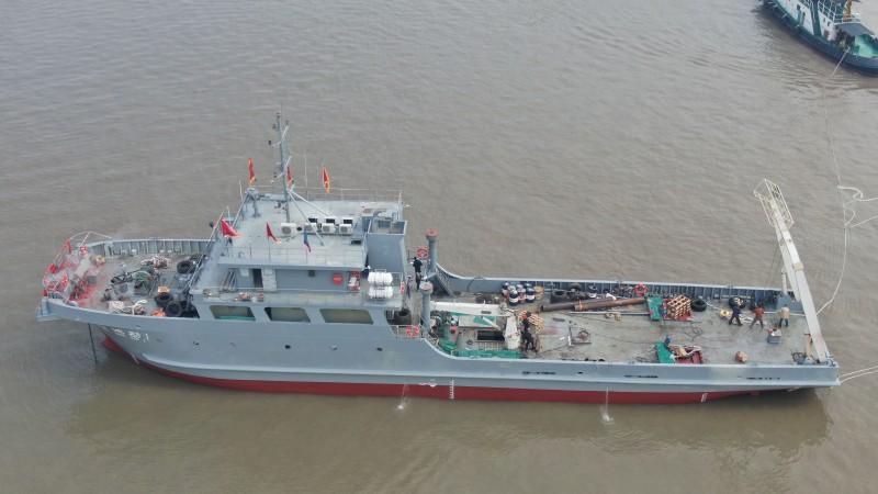 48米海洋勘测船正式下水