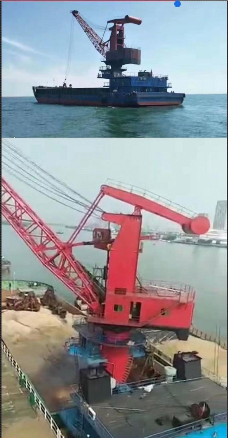 售2016年江苏造实载4000吨甲板货船(带双200海浮吊)