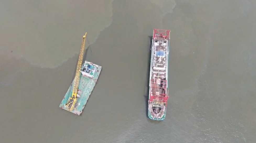 航拍船舶-远洋渔船