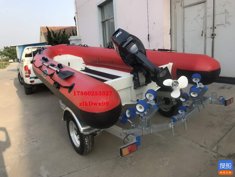 4.6米铝合金船快艇rib充气船pvc冲锋艇