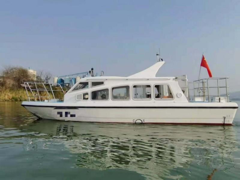 出售2015年造8.59米沿海玻璃钢交通船