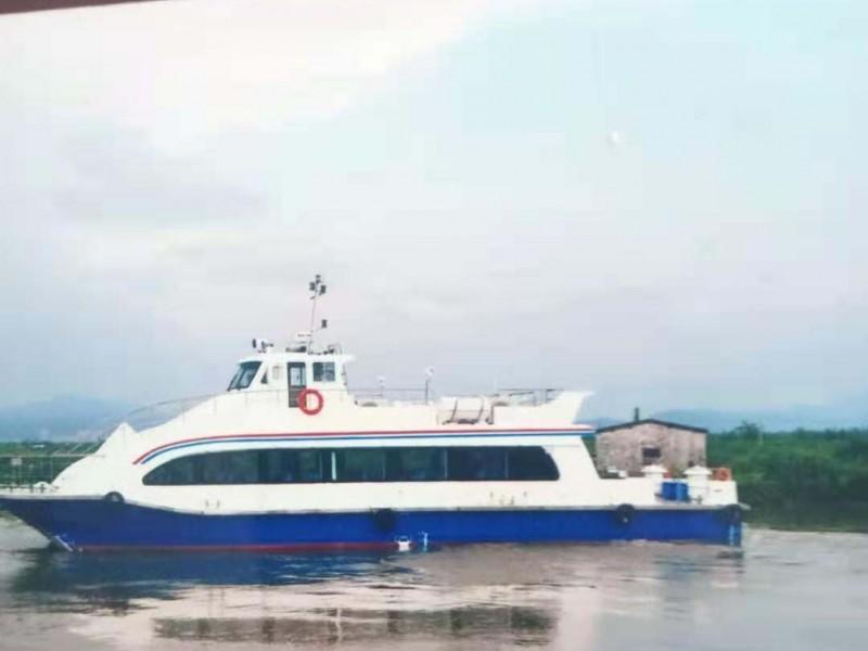 出售2013年造20米99座沿海玻璃钢双体普通客船
