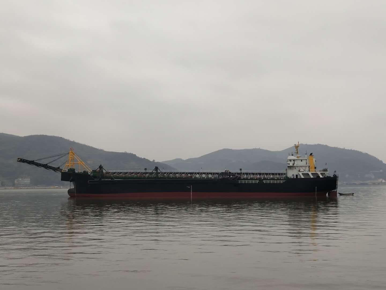 售:2018年11月江苏造7500吨沿海自吸自卸砂船