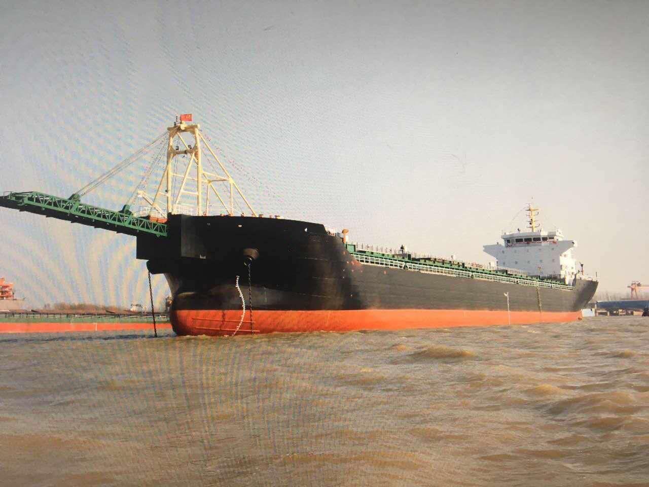 出售2017年6月江苏造14500吨沿海自吸自卸砂船