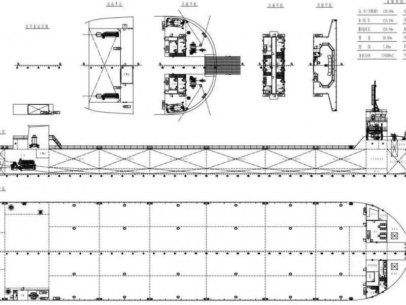 现船出售/出租  11500吨前驾甲板驳船