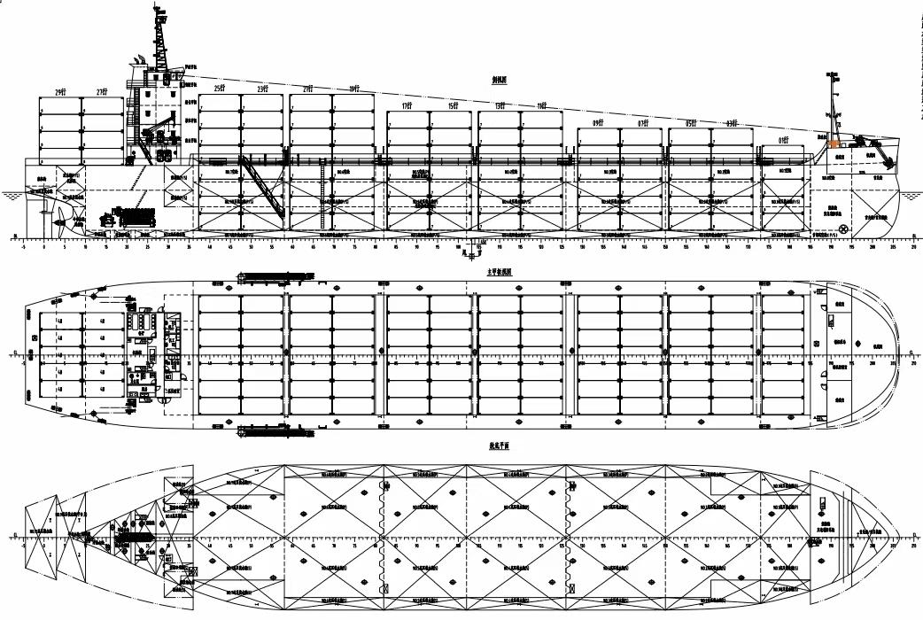 出售: 2021年精品全新10000吨后驾驶敞口集装箱船
