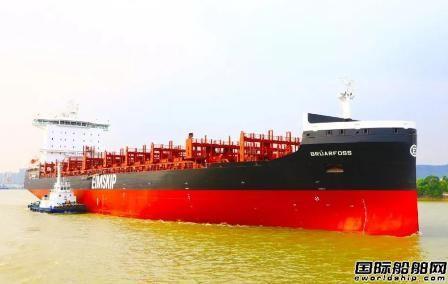 黄埔文冲一艘2150TEU集装箱船试航提前凯旋,
