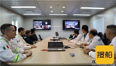 上海中远海运重工MV34 FPSO项目实现First luncheon重大节点,