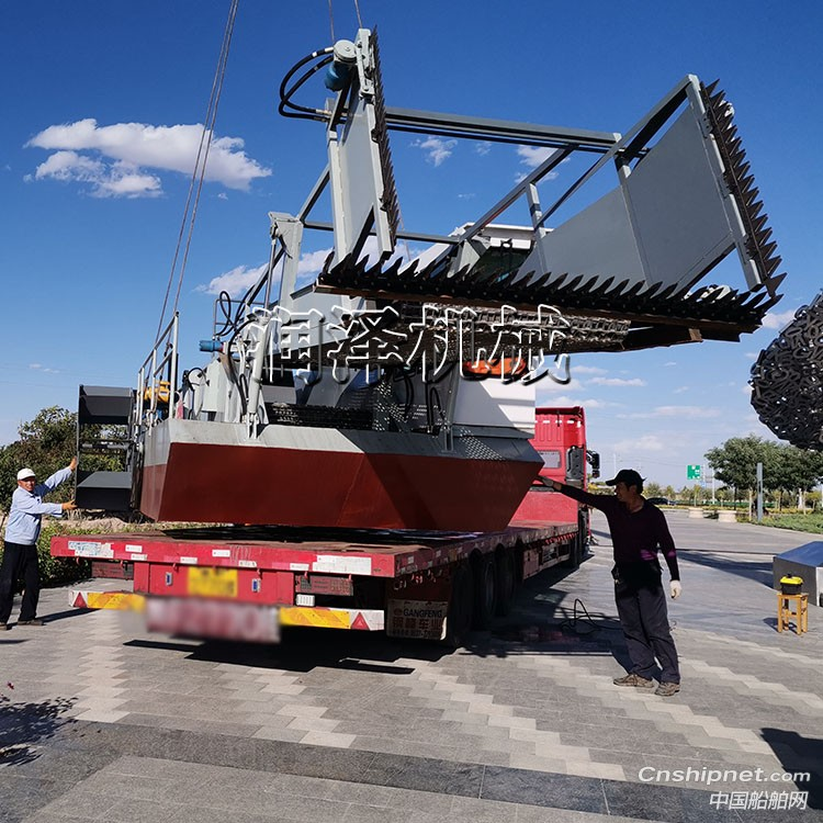 大型水库水面水草垃圾收集打捞设备 水面清漂船