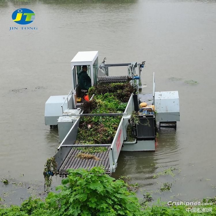 鱼塘水池水面水草除草保洁船
