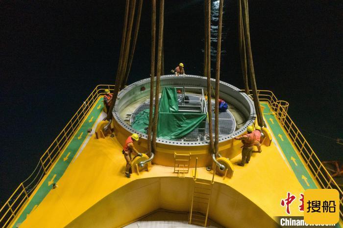粤电阳江沙扒海上风电项目基础施工收官 年底并网发电