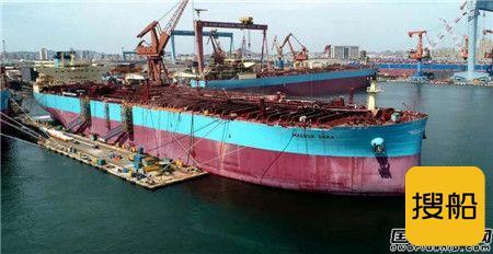 新年首艘!大船集团交付马士基油轮一艘11 5万吨油船,