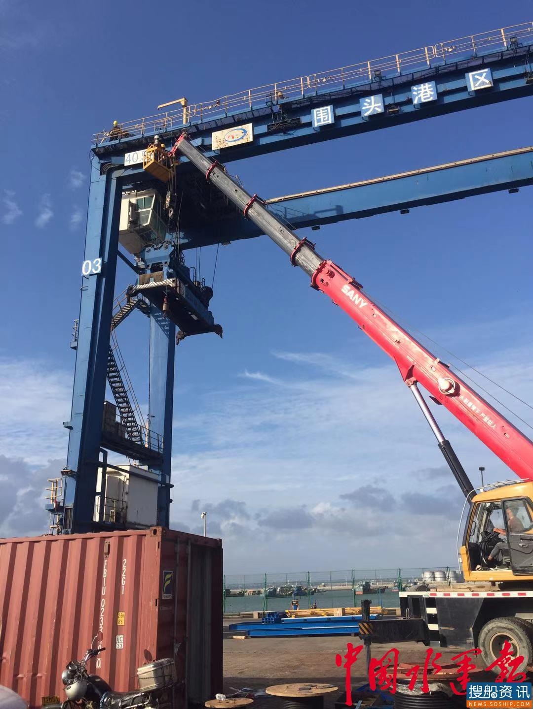 泉州港这一码头四台混合动力RTG投入试运行