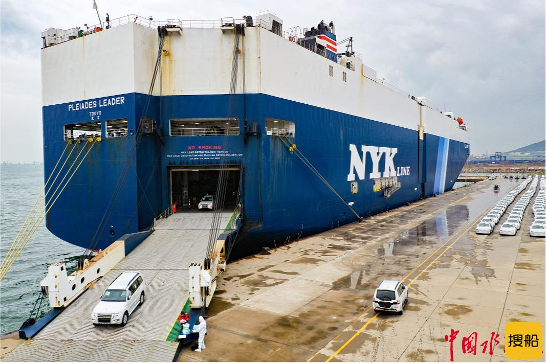 创新高!大连港首次批量接卸平行进口车