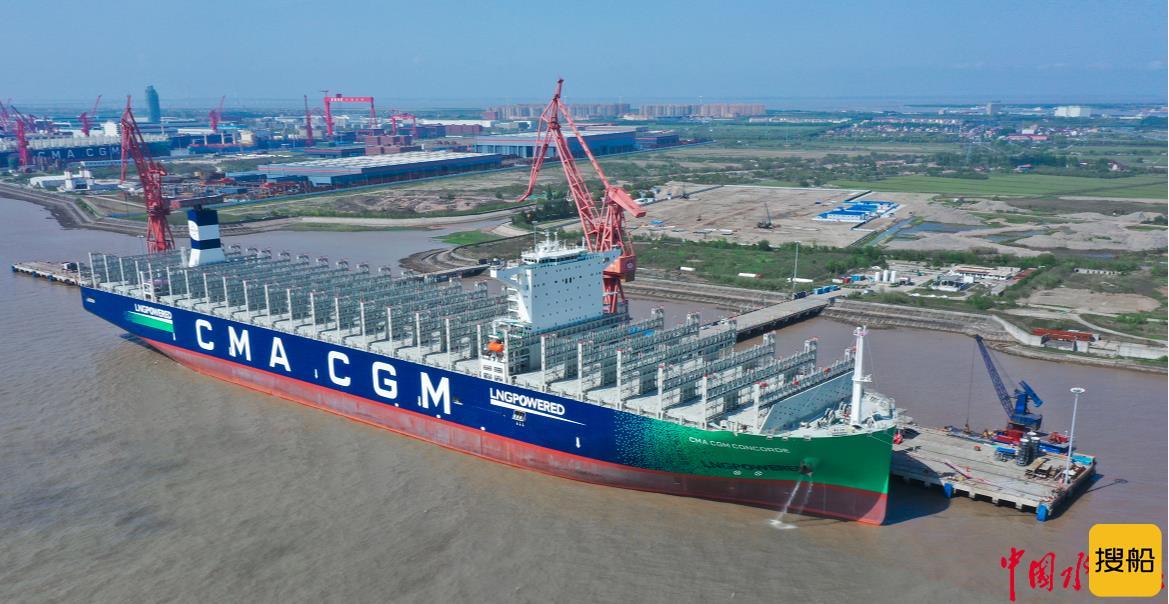 月均交一艘,品质更优秀  中国船舶沪东中华又交付全球首创双燃料集装箱船